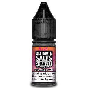 Strawberry Laces Sherbet - Ultimate Salts - 10ml Nic Salts