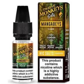 Mangabeys Nic Salt E Liquid 10ml by Twelve Monkeys