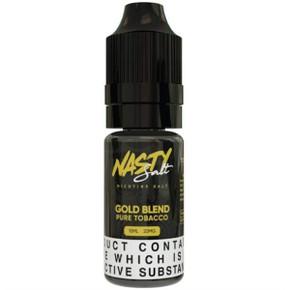 Gold Blend Nic Salt E Liquid 10ml By Nasty Salt