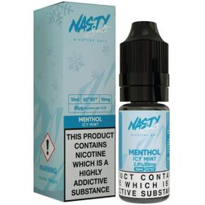 Menthol Icy Mint Nic Salt E Liquid 10ml By Nasty Salt