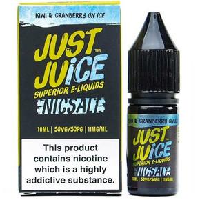 Kiwi & Cranberry on Ice Nic Salt E Liquid 10ml By Just Juice