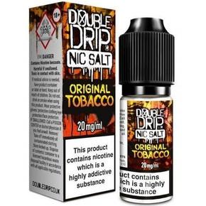 Original Tobacco Nic Salt 20mg E Liquid By Double Drip