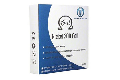 5 Pack Innokin iSub Ni200 TC Atomizer Coil Heads