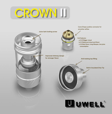 Uwell Crown v2 Tank in parts