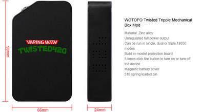 Wotofo Twisted 420 Tripple Box Mod Statistics