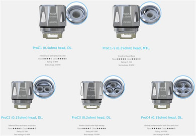 5 Pack Joyetech ProC Series Coil Atomizer Heads