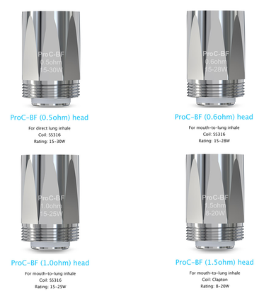5 Pack Joyetech ProC BF Coil Atomizer Heads