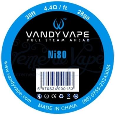 Vandy Vape Pure Ni80 Wire 28ga 30ft