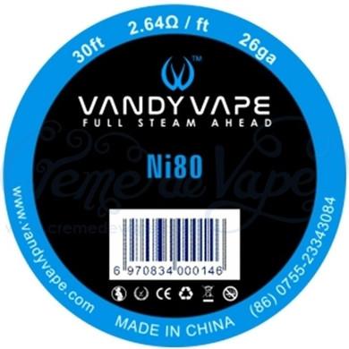 Vandy Vape Pure Ni80 Wire 26ga 30ft