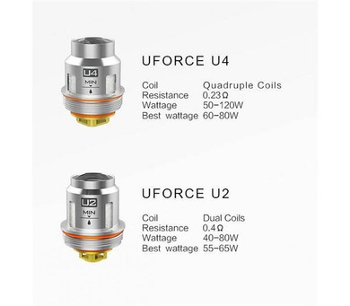 5 Pack Voopoo Uforce Replacement Coils U2 or U4 or N2 or N3 Mesh