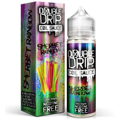 Sherbet Rainbow E Liquid 50ml by Double Drip Coil Sauce Only £9.99 (INC Free Nic Shots or Zero Nicotine)