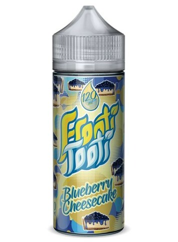 Blueberry Cheesecake E Liquid 100ml Shortfill by Frooti Tooti E Liquids Only £9.99 (FREE NICOTINE SHOTS)