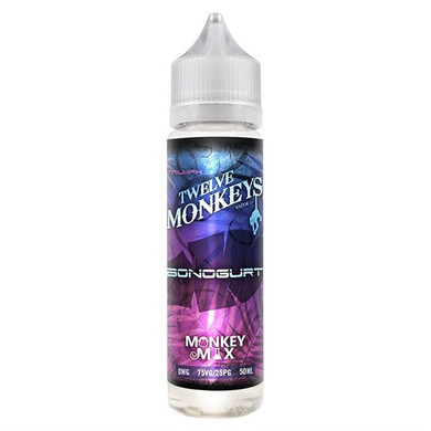 Bonogurt E Liquid 50ml By Twelve Monkeys (60ml of e liquid with 1 x 10ml nicotine shots to make 3mg)
