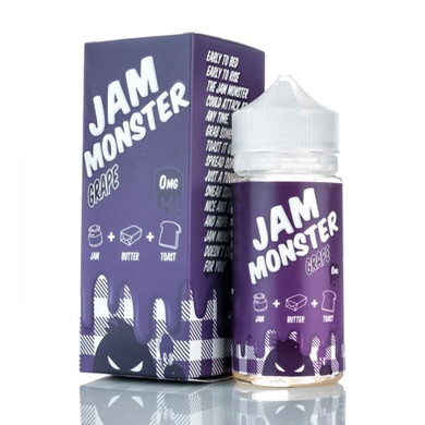 Grape Jam Monster Eliquid 100ml by Fresh Juice Co (Zero Nicotine & Free Nic Shots)