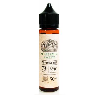 Peppermint Sweets E Liquid 50ml(60ml with 1 x 10ml nicotine shots to make 3mg) by Tonix E Liquids (Zero Nicotine)