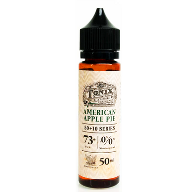American Apple Pie E Liquid 50ml(60ml with 1 x 10ml nicotine shots to make 3mg) by Tonix E Liquids (Zero Nicotine)