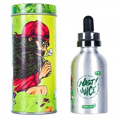 Green Ape E Liquid 50ml(60ml with 1 x 10ml nicotine shots to make 3mg Shortfill by Nasty Juice