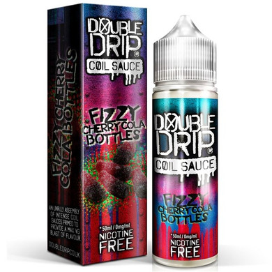 Fizzy Cherry Cola Bottles E Liquid 50ml by Double Drip Coil Sauce Only £9.99 (INC Free Nic Shots or Zero Nicotine)
