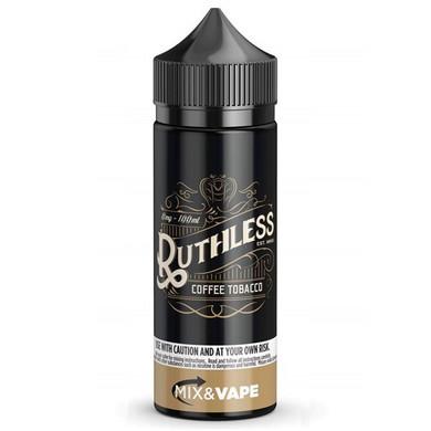 Coffee Tobacco E Liquid 100ml by Ruthless Vapor (Zero Nicotine & Free Nic Shots to make 120ml/3mg)