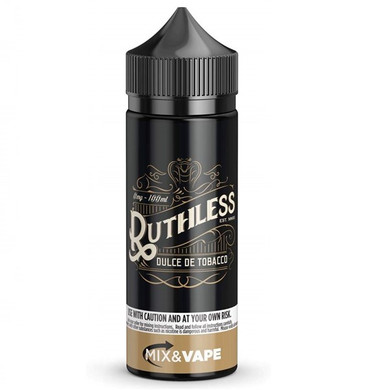 Dulce De Tobacco E Liquid 100ml by Ruthless Vapor (Zero Nicotine & Free Nic Shots to make 120ml/3mg