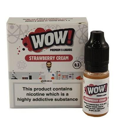 Strawberry Cream High VG E Liquid 3 x 10ml By Wow E Liquids