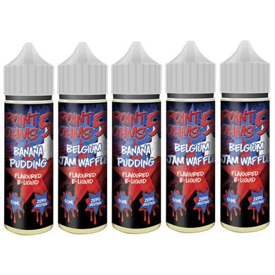 10 x 50ml Point Five Ohms High VG E Liquids