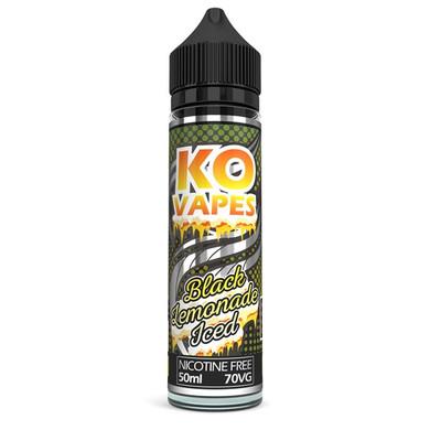 Black Lemonade Iced E Liquid 50ml by KO Vapes (Includes Free Nicotine Shot)