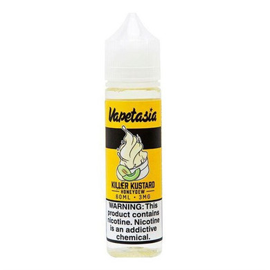 Honeydew Killler Custard 50ml (60ml with 1 x 10ml 18mg Nicotine Shot making 3mg liquid) Shortfill by Vapetasia
