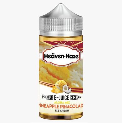 Pineapple Pina Colada Ice Cream E Liquid (Zero Nicotine & Free Nic Shots to make 120ml/3mg) by Heaven Haze