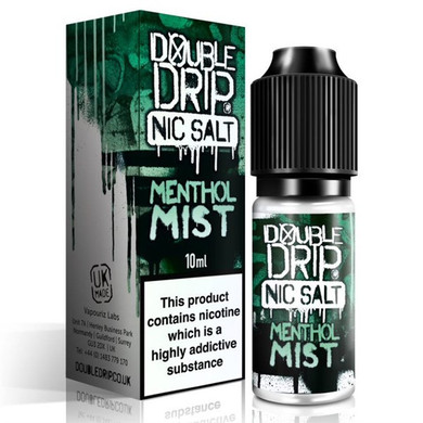 Menthol Mist Nic Salt 20mg E Liquid 10ml By Double Drip