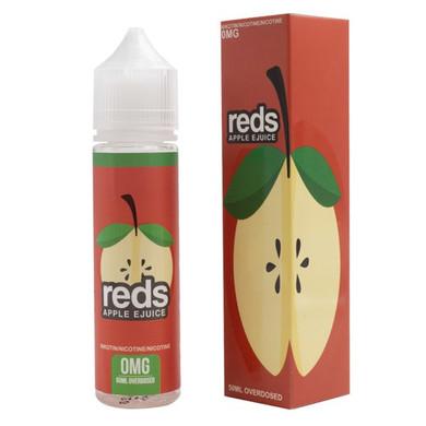Apple E Liquid 50ml (60ml with 1 x 10ml nicotine shots to make 3mg) Shortfill by Reds E Juice