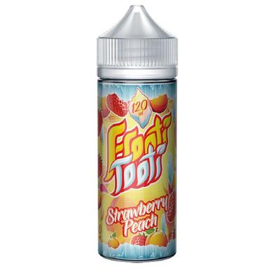 Strawberry Peach E Liquid 100ml Shortfill (120ml with 2 x 10ml nicotine shots to make 3mg) by Frooti Tooti E Liquids Only £12.99 (FREE NICOTINE SHOTS)