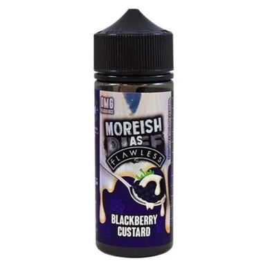 Blackberry Custard E Liquid 100ml Shortfill 0mg (120ml with 2 x 10ml Nicotine Shots Making Liquid 3mg) By Moreish As Flawless