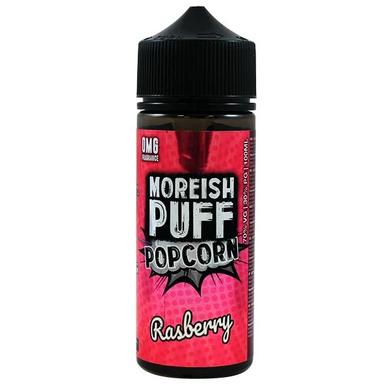 Raspberry Popcorn E Liquid 100ml Shortfill 0mg (120ml with 2 x 10ml Nicotine Shots Making Liquid 3mg) By Moreish Puff