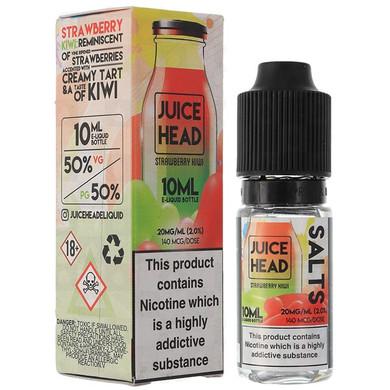 Strawberry Kiwi Nic Salt E Liquid 10ml by Juice Head
