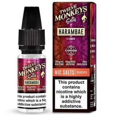 Harambae Nic Salt E Liquid 10ml by Twelve Monkeys