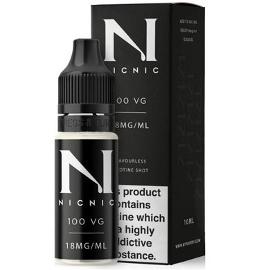 18mg Unflavoured 100VG Nicotine Shot E Liquid 10ml By Nic Nic