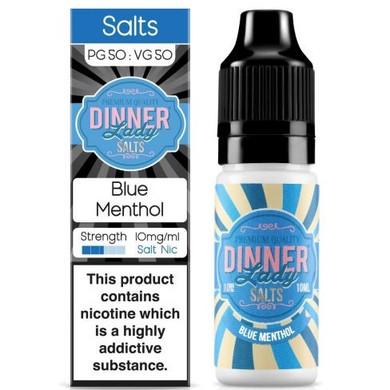 Blue Menthol Nic Salt E Liquid 10ml By Dinner Lady