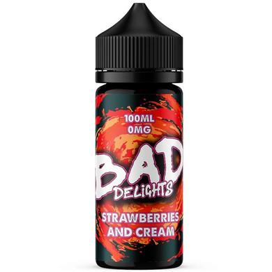 Strawberries Cream E Liquid 100ml by Bad Juice
