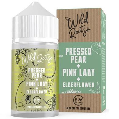 Pressed Pear Pink Lady & Elderflower E Liquid 50ml by Wild Roots