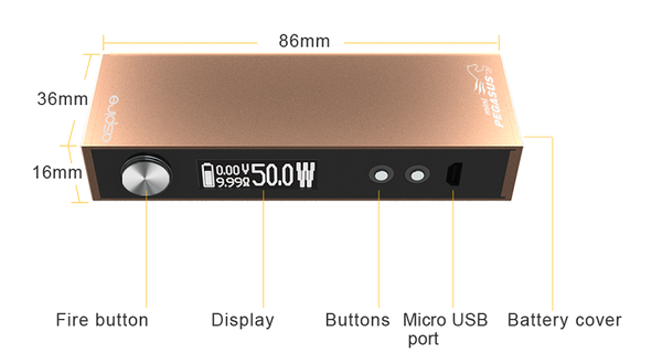 Aspire Mini Odyssey Kit TC Inc Free Battery Free Delivery