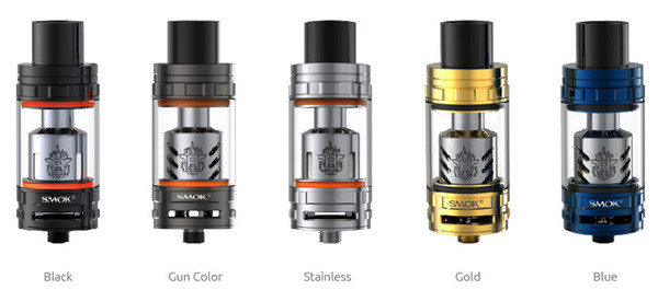 Smok TFV8 Beast Tank in Gold Blue Grey Stainless Steel Black Colour