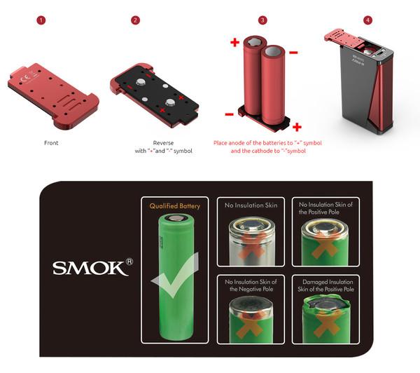 Smok H-Priv battery guide