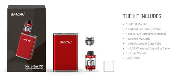 Smok Micro One 150 Starter Kit Contents