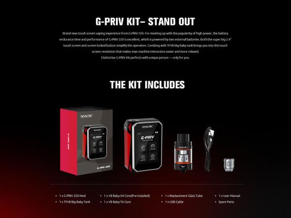 Smok G Priv Starter Kit Components