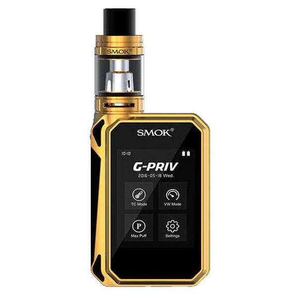 Smok G Priv 220W TC Starter Kit in Gold & Black Free E Liquid Free Delivery