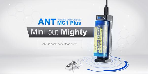 Xtar ANT MC1 Plus Single Bay Battery Charger Power Indicator