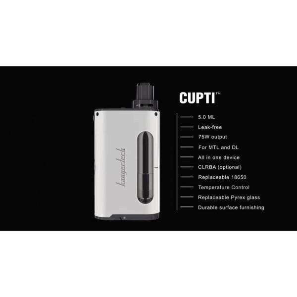 Kanger Cupti 75w Starter Kit key Points