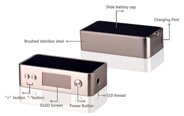 SnowWolf Mini 75w TC Box Mod Buttons & Features