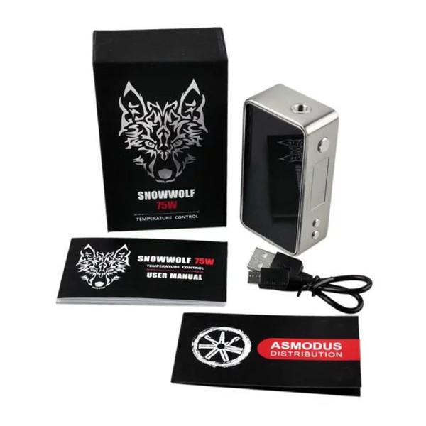 SnowWolf Mini 75w TC Box Mod Contents